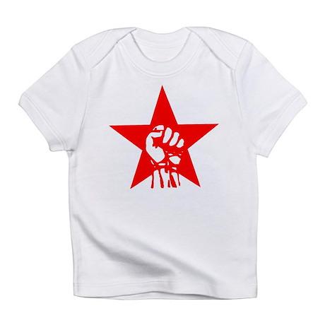 Red Star Fist Creeper Infant T-Shirt