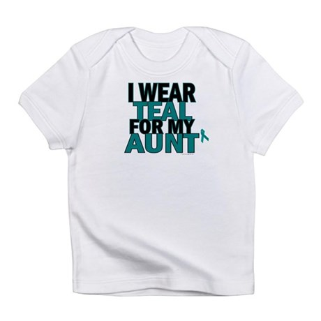 I Wear Teal For My Aunt 5 Infant T-Shirt