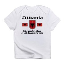 Albania Flag & Seal Creeper Infant T-Shirt