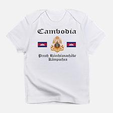 Cambodia Flag & Crest Creeper Infant T-Shirt