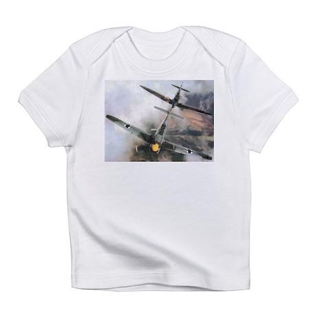 Spitfire Chasing ME-109 Creeper Infant T-Shirt