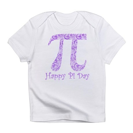 Happy Pi Day Lavender Swirls Infant T-Shirt