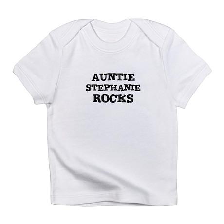 AUNTIE STEPHANIE ROCKS Creeper Infant T-Shirt