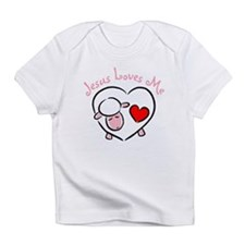 Jesus Loves Me - Pink Lamb Infant T-Shirt