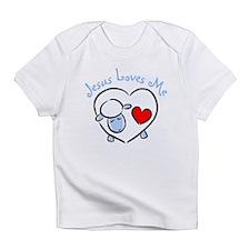 Jesus Loves Me - Blue Lamb Infant T-Shirt