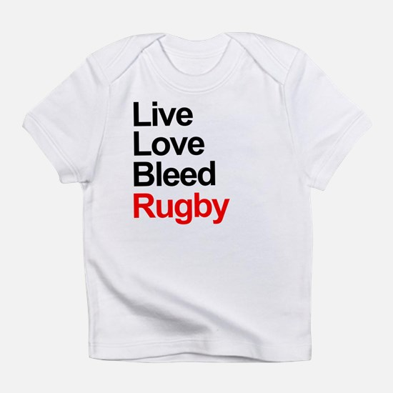 Live, Love, Bleed, Rugby Infant T-Shirt