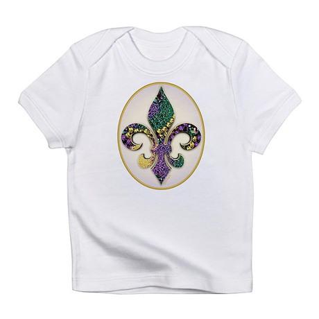 Fleur de lis Mardi Gras Beads Infant T-Shirt