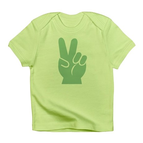 Green Peace Sign Infant T-Shirt
