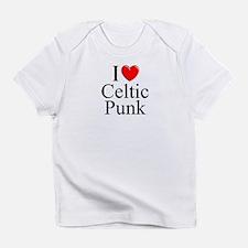"""I Love (Heart) Celtic Punk"" Infant T-Shirt"