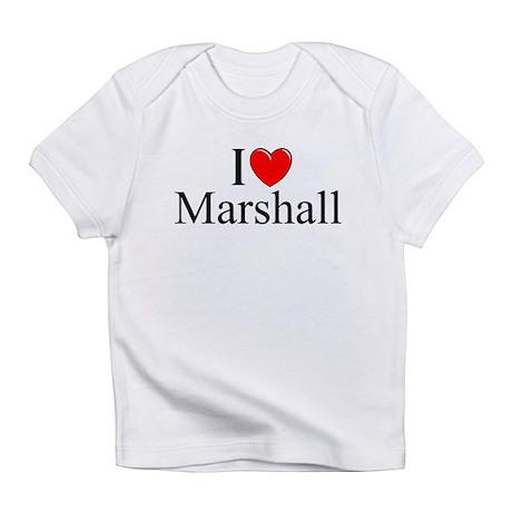 """I Love (Heart) Marshall"" Infant T-Shirt"