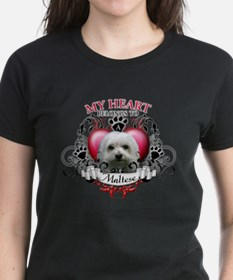 My Heart Belongs to a Maltese Tee