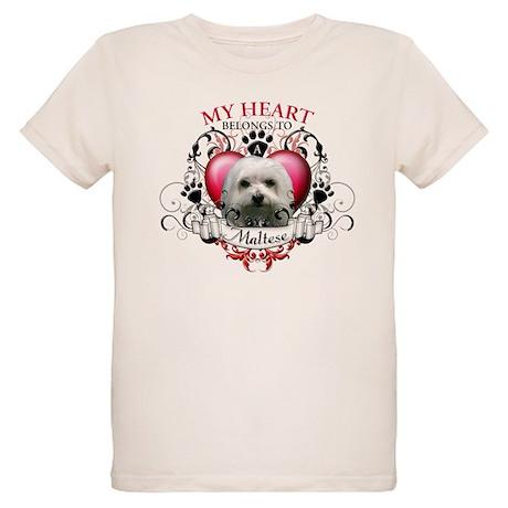 My Heart Belongs to a Maltese Organic Kids T-Shirt