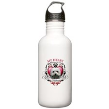 My Heart Belongs to a Maltese Water Bottle