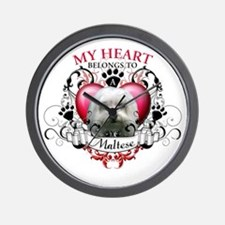 My Heart Belongs to a Maltese Wall Clock