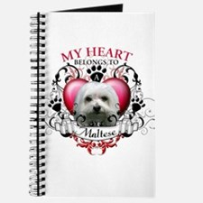 My Heart Belongs to a Maltese Journal