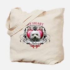 My Heart Belongs to a Maltese Tote Bag