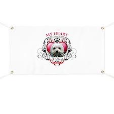 My Heart Belongs to a Maltese Banner