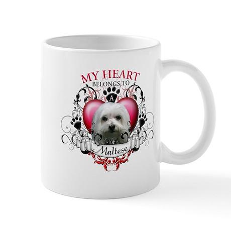 My Heart Belongs to a Maltese Mug