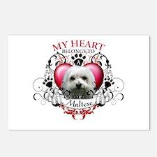 My Heart Belongs to a Maltese Postcards (Package o