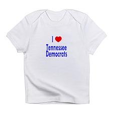 I Love Tennessee Democrats Creeper Infant T-Shirt