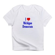 I Love Michigan Democrats Creeper Infant T-Shirt