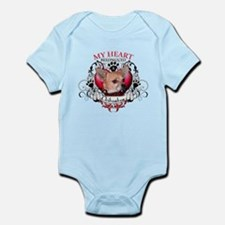 My Heart Belongs to a Chihuahua Infant Bodysuit