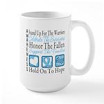 Prostate Cancer Stand Large Mug