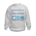 Prostate Cancer Stand Kids Sweatshirt
