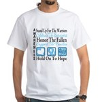 Prostate Cancer Stand White T-Shirt