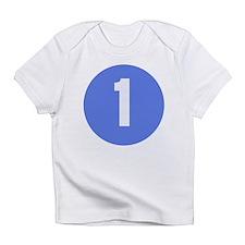 Age One Blue Circle Creeper Infant T-Shirt