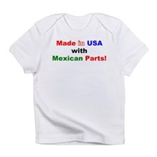 Made in USA with Mexican Parts! Creeper Infant T-S