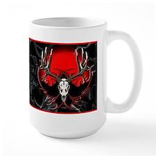 Flaming deer skull Mug