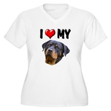 I Love My Rottweiler 2 T-Shirt