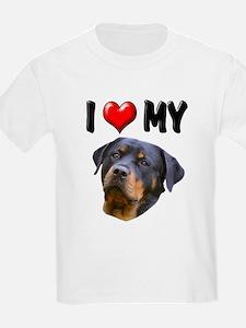 I Love My Rottweiler 2 T-Shirt