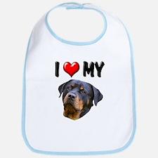 I Love My Rottweiler 2 Bib