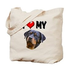 I Love My Rottweiler 2 Tote Bag
