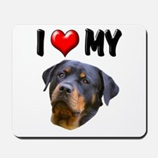 I Love My Rottweiler 2 Mousepad