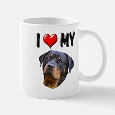 I Love My Rottweiler 2 Mug