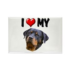 I Love My Rottweiler 2 Rectangle Magnet (10 pack)