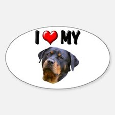 I Love My Rottweiler 2 Sticker (Oval)