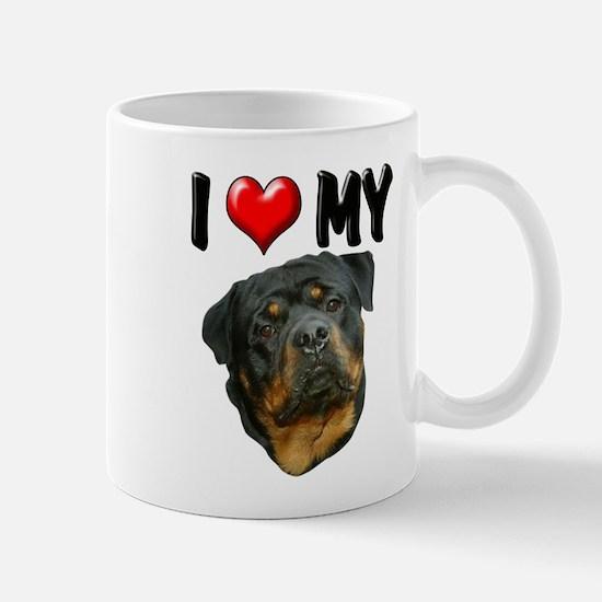 I Love My Rottweiler 3 Mug