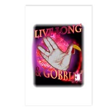 Live Long Gobble Postcards (Package of 8)