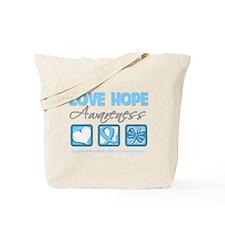Prostate Cancer Love Hope Tote Bag