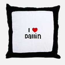 I * Dallin Throw Pillow