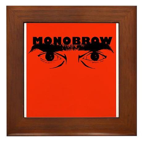 one eyebrow Framed Tile