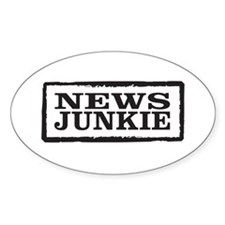 News Junkie Decal