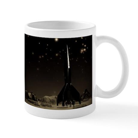 Spacemen and Rocketship Mug