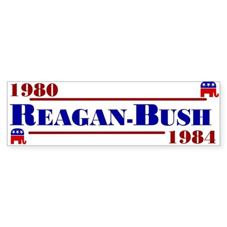 Reagan Bush Bumper Sticker