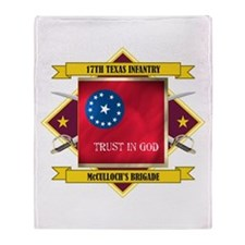 17th Texas Infantry Throw Blanket