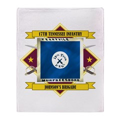 17th Tennessee Infantry Throw Blanket